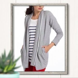 Anthro Dolan Gray Open Front Cardigan Size XS